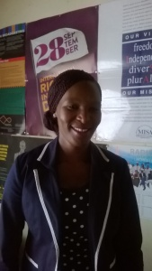 Ms. Mookho Mphoonyo, MISA Lesotho Coordinator for Peace Building and Conflict Reporting Project.